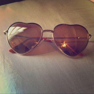 Betsy Johnson Heart-shaped Sunglasses